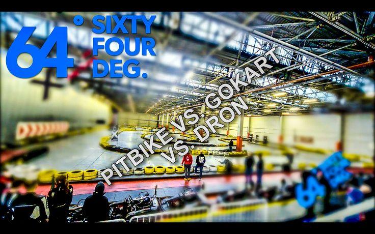 Race Drone vs Pit Bike vs Cart  #64deg
