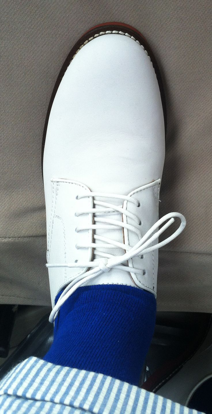 Our Southern gentlemen were sporting these Sunday morning! My five year old wore his too! #WhiteBucks