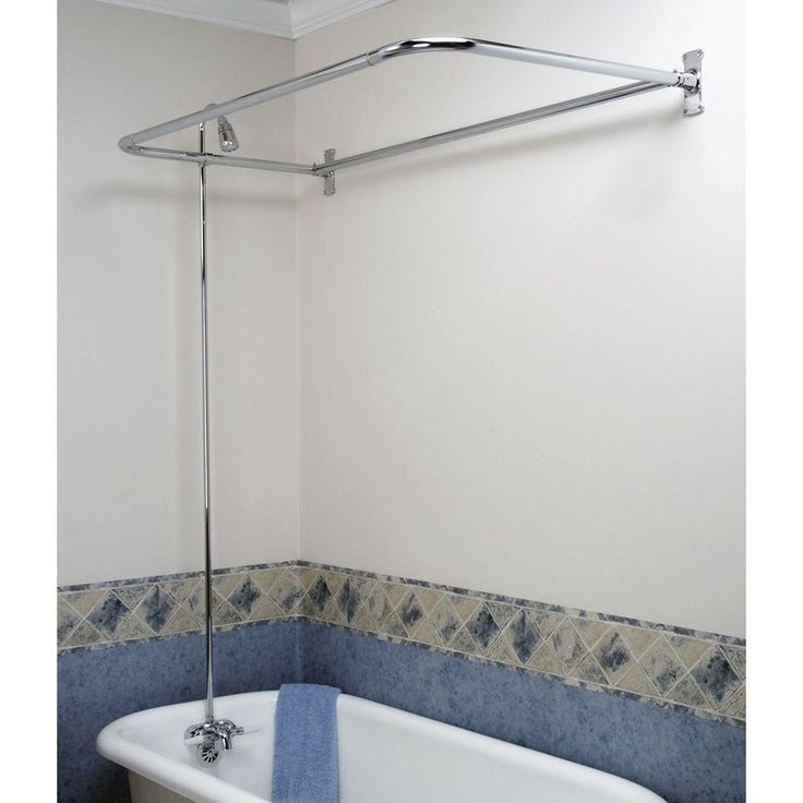 Pegasus 2 Handle Claw Foot Tub Faucet With Riser