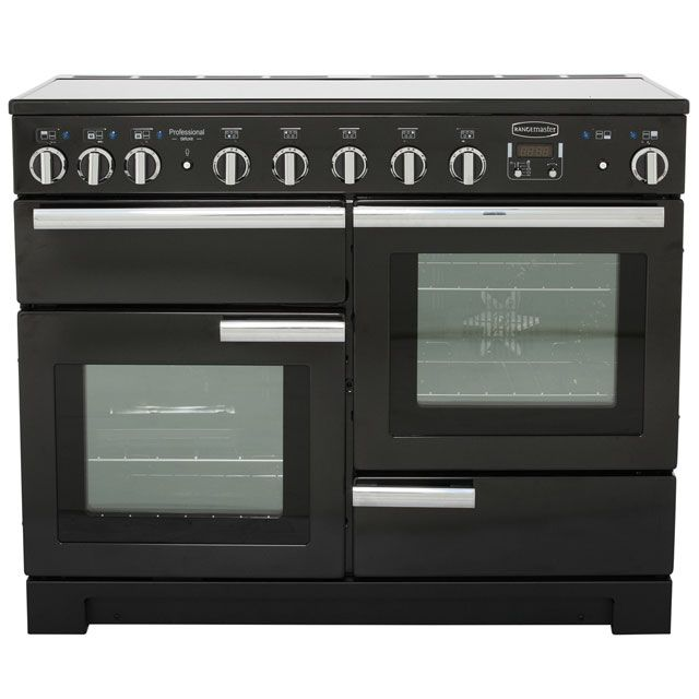 Rangemaster Electric Range Cookers with Induction Hobs in Black - standard width of 110 cm  ao.com