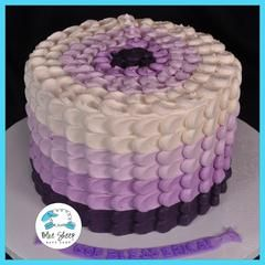 Pretty and delicate petal inspired buttercream party cake! You select the color and the flavor - we take care of...