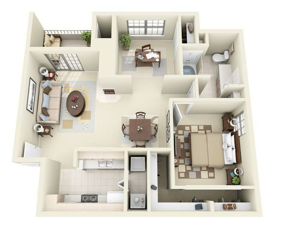 Napoli 1 Bedroom 1 Bathroom Floorplan Bedroom Floor Plans