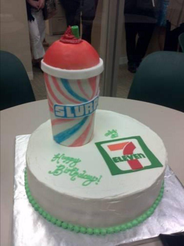 7-Eleven Slurpee cake.  Yay for Slurpees!