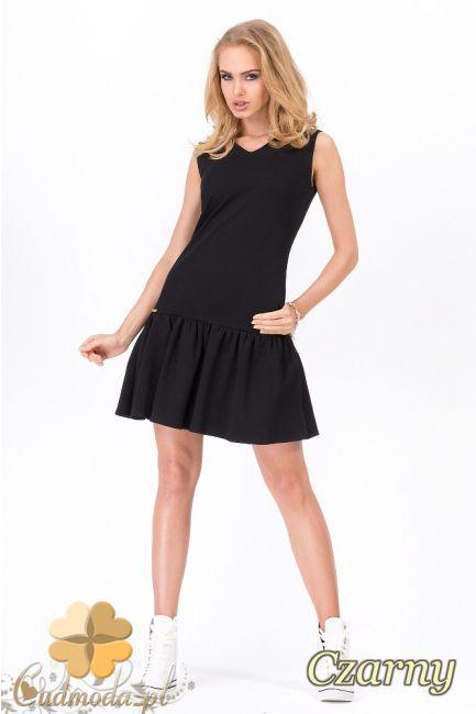 Taliowana sukienka damska na ramiączkach wyprodukowana przez MOE.  #cudmoda #moda #ubrania #odzież #clothes #fashion #glamour #sukienki