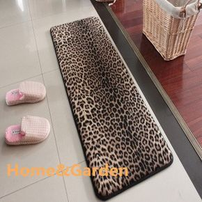 Big House Memory Foam Bath Mats Slip-Resistant Water-absorbing Doormat Leopard Print Carpet Bath Rug 45 120cm 2F13C056 US $39.11