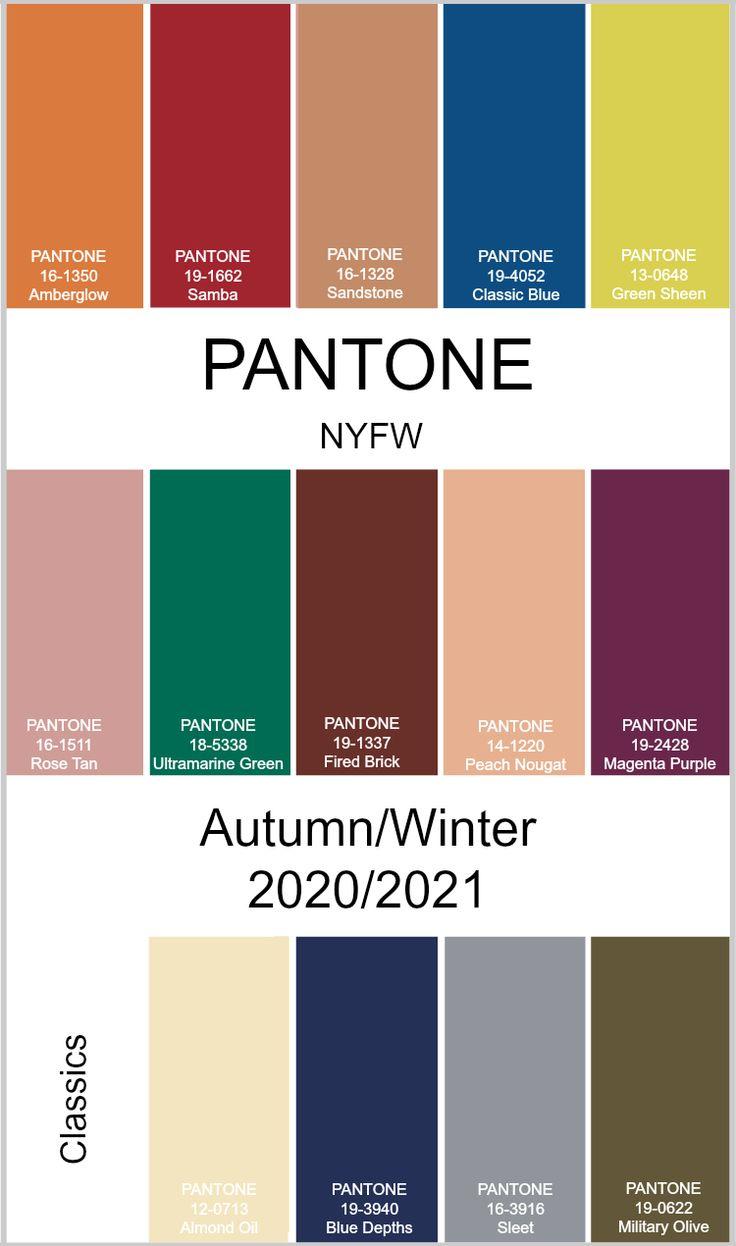 Pantone Autumn Winter New York Fashion Week
