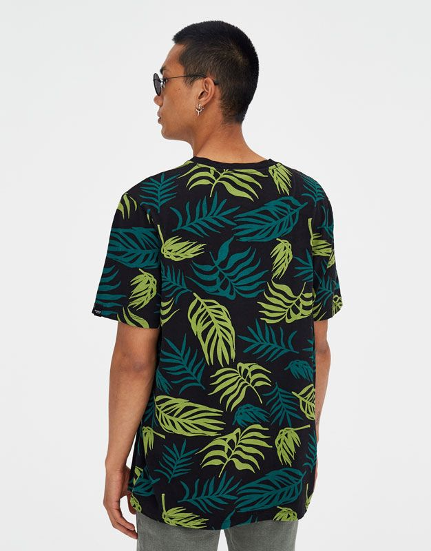 Cotton Tropical Leaves T Shirt Pull Bear Print Clothes Cotton Tropical Leaf Print Check out our tropical leaves tee selection for the very best in unique or custom, handmade pieces from our shops. pinterest