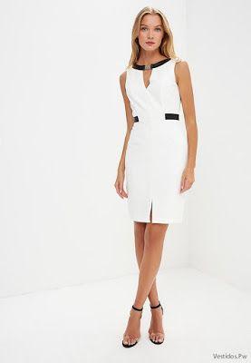 Modelos de vestidos blancos casuales