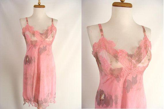 BLOOD OPTIONAL Custom Made Distressed Pink Full Slip Zombie Halloween Costume S 4 6 by wardrobetheglobe, $38.00