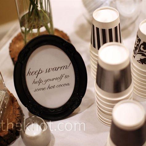 Real Weddings - A Rustic Winter Wedding in Hampton, VA - Winter Wedding Drinks