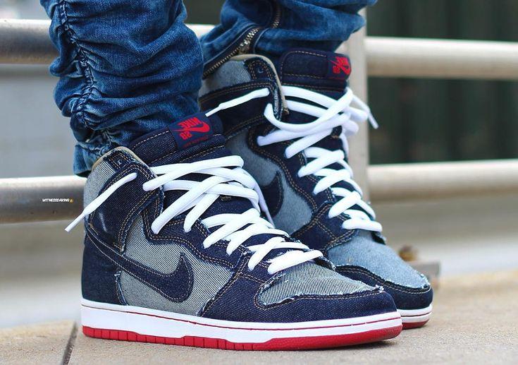 #Nike #Dunk #High #Pro #SB #Reese #Denim