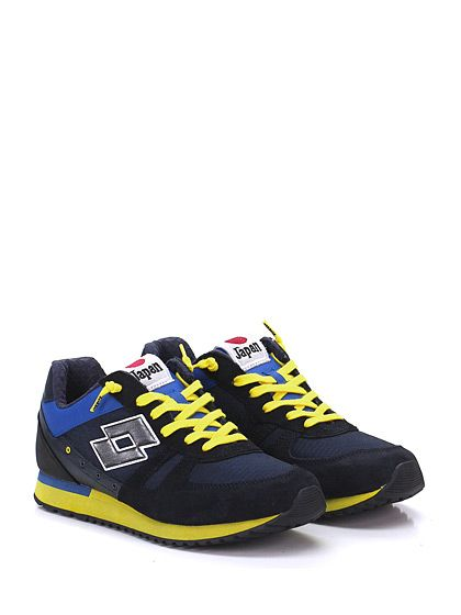LOTTO LEGGENDA - Sneakers - Uomo - Sneaker in pelle, camoscio e tessuto con suola in gomma. Tacco 30, platform 20 con battuta 10. - NAVY\GIALLO