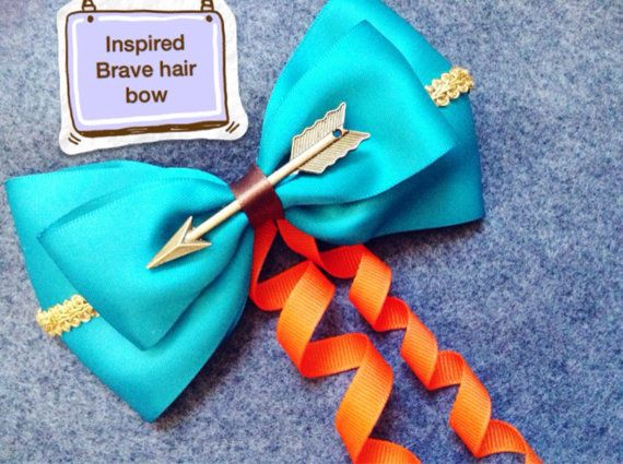 Disney inspired Merida hair bow by PamandJessCreations on Etsy