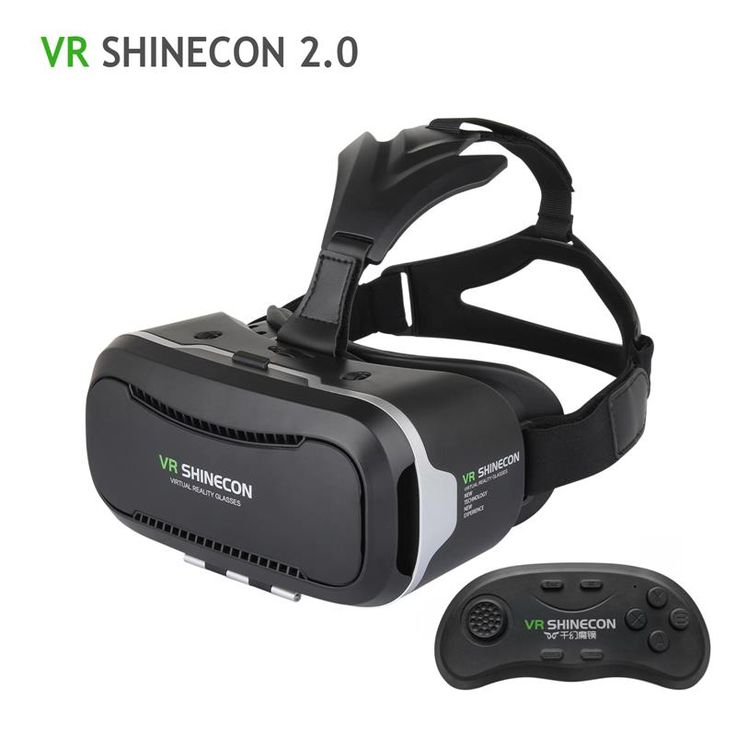 100 Original VR Shinecon 2.0 Upgraded 3D Glasses VR Headset UV Filter Protect Eyesight Virtual Reality Glasses 2017 Hot