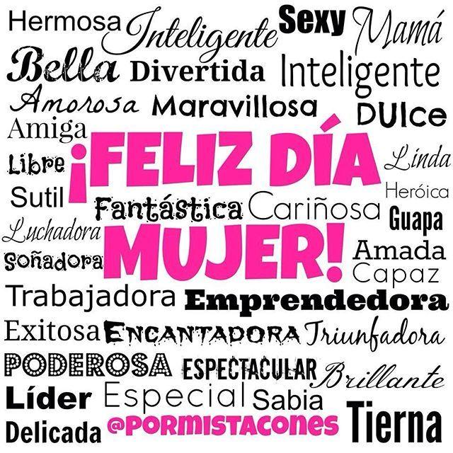 #mesdelamujer y los adjetivos se me quedan cortos ¡Disfruta tu día! #mujer #Mesdelamujer #motivation @motivachannel @inspirulina