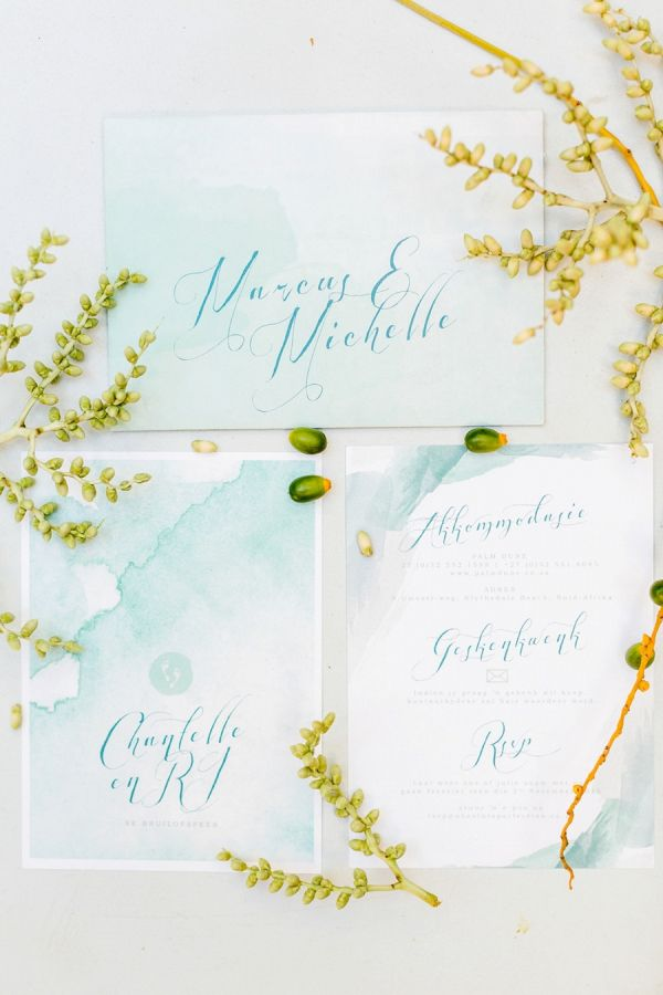 Watercolor Calligraphy Invitation Suite    #wedding #weddings #weddingideas #aislesociety #beachweddings