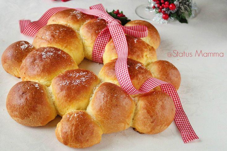 Ghirlanda Natalizia salata di pan brioche   Status mamma
