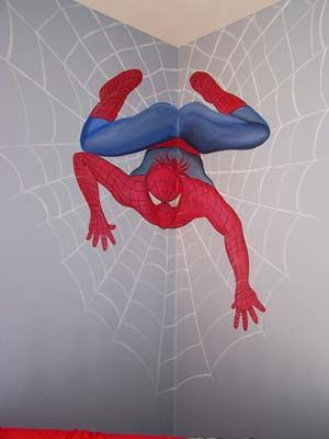 17 best ideas about spiderman bedrooms on pinterest boys - Poster mural spiderman ...