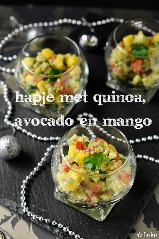 Hapje met quinoa, avocado en mango – fiekefatjerietjes