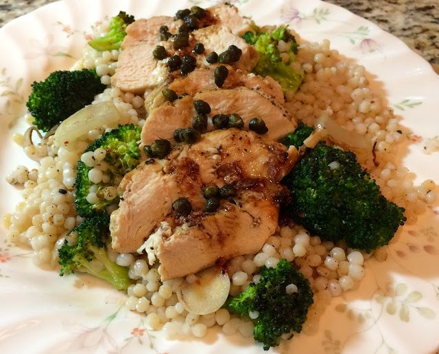 17th Blue Apron Subscription Box Review, Seared Chicken and Pearl Couscous
