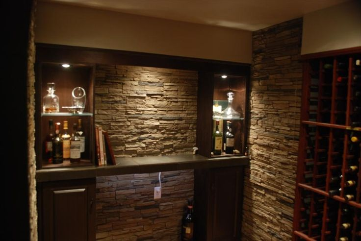 BuildDirect – Faux Stone Siding - Slate Stone – Amber - Living Room View