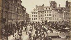 Konrad Brandel. Targ na Rynku Starego Miasta, ok. 1885. Muzeum Narodowe w Warszawie