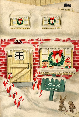 Vintage Advent Calendar for Christmas Garland Along