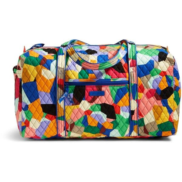 Vera Bradley Large Duffel 2.0 Travel Bag in Pop Art ($85) ❤ liked on Polyvore featuring bags, luggage and pop art