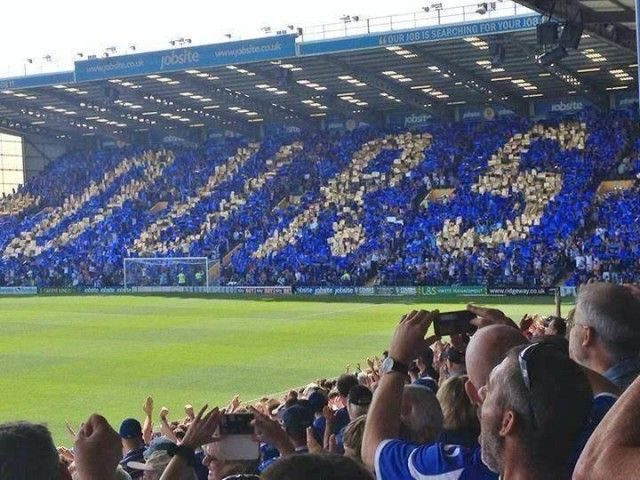 Ours! | Portsmouth FC sis was there with the blue army when they did this and lost 4 1