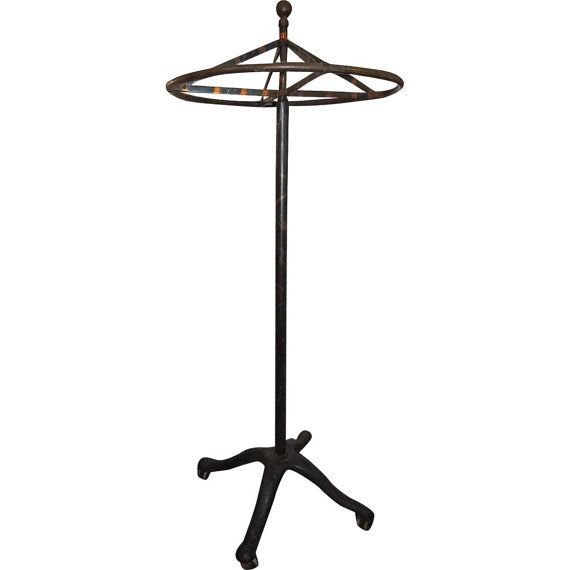 c1910 Rolling Garment Rack, Industrial American, Clothing Store Display, Antique Oxidized Copper Finish  $1,195.00