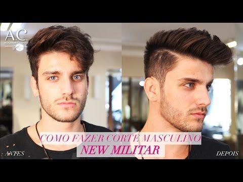 Como Fazer o Corte Masculino - New Militar - YouTube