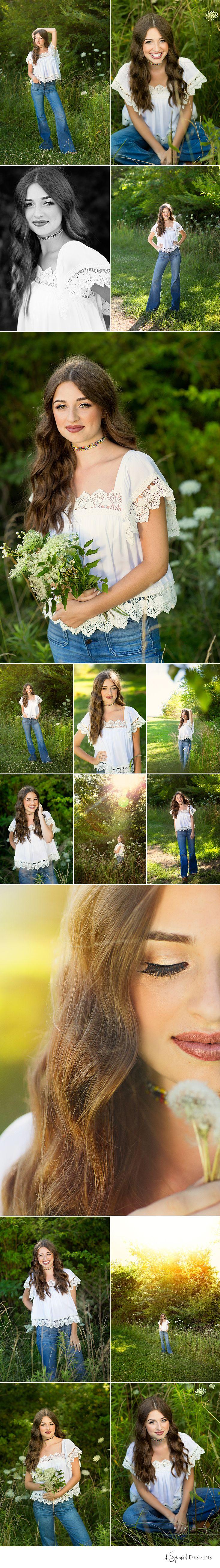 d-Squared Designs St. Louis, MO Senior Photography, Summer senior girl. Gorgeous senior. Summer senior outfit. Boho. Nature photoshoot. Girl pose ideas. Senior poses. Flowers.