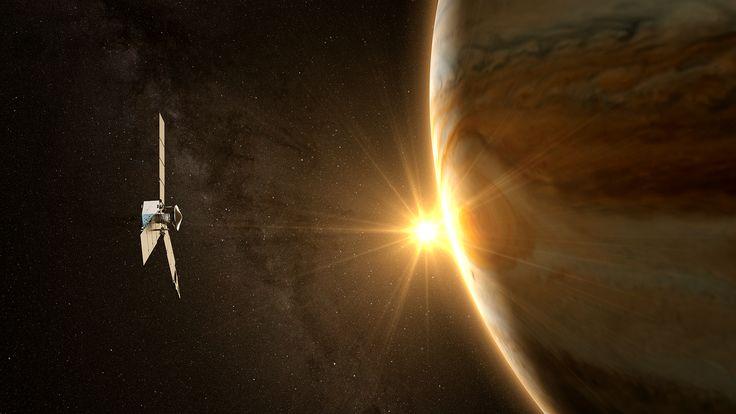 El 4 de julio de 2016, Juno, de la NASA, entró con éxito en la órbita de Júpiter después de un viaje de cinco años hasta el planeta gigante.