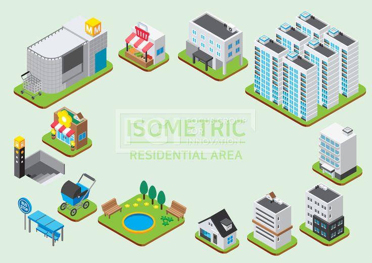 ILL193, 프리진, 일러스트, 프레임, 도시, 아이소메트릭, 그래픽, 입체, 오브젝트, 웹활용소스, 면, 다양한, 일러스트, 육면체, 3D, 도형, 컨셉, 테마, 주제, 레이아웃, 주거지, 주택, 마을, 거주지, 건물, 상점, 가게, 빌라, 아파트, 빌딩, 공원, 자연, 풀, 식물, 나무, 벤치, 의자, 꽃, 꽃가게, 화분, 슈퍼마켓, 슈퍼, 장바구니, 장보기, 유모차, 지하철역, 지하철, 버스, 정류장, 마트, 대형마트, 카트, 실외기, 현관, 입구, 옥상, 과일, 채소, 야채, 빨간, 빨강, 흰색, 회색, 파란, 푸른, 파랑, 녹색, 초록, 연두, 노랑, 검정, 갈색, 단면, #유토이미지