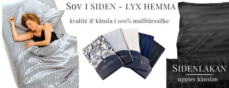 Sidenlakan och sängkläder i silke