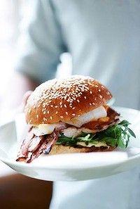 The breakfast burger at bills in Bondi.
