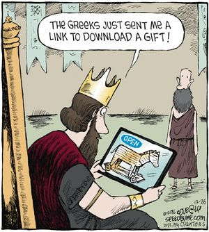 """""""Speed Bump"""" comic for December 26, 2016.  Hahahaha -- Cute!  Don't click on it !!!"""