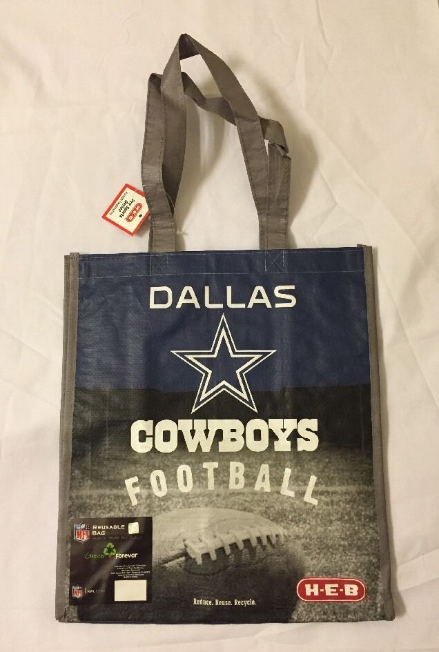 HEB Dallas Cowboys Shopping Tote Gift Bag  Texas NFL Football Blue Star Reuse #HEB