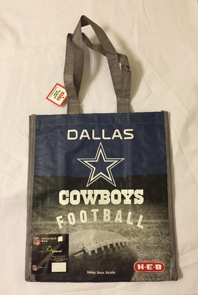 Heb Dallas Cowboys Shopping Tote Gift Bag Texas NFL Football Blue Star Reuse | eBay