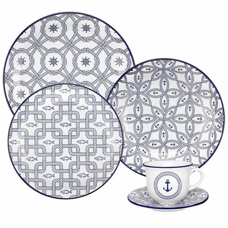 Aparelho de Jantar Floreal Náutico - Oxford Daily - Oxford Porcelanas