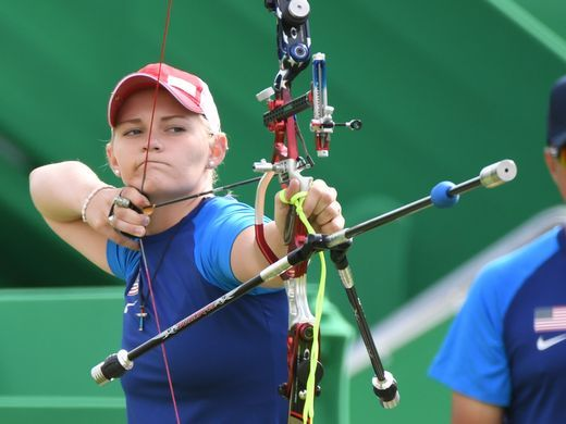 Mackenzie Brown of the United States competes during