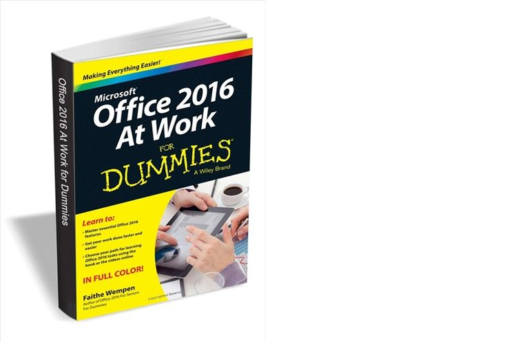 Office 2016 at Work For Dummies ($20 Value) FREE For a Limited Time   As the world's leading productivity software Microsoft Office plays an integral role in the daily lives of professionals. Understanding how to quickly and accurately use Office 2016 can improve your productivity enhance your deliverables and provide you with the tools and knowledge you need to be successful.This will help you: Choose your path for learning and explore the fundamental features of Microsoft Office 2016…