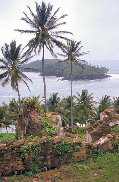 """Devil's Island ruins, French Guiana. You may recall the movie """"Papillon"""" with Steve McQueen and Dustin Hoffman. A prison with an infamous history of cruelty and despair."""