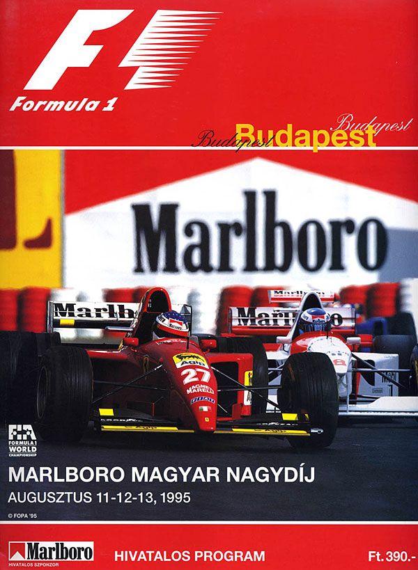 1995 08 13 Magyar Nagydij Budapest Formula 1 Event Artwork Formula 1 Programme Cover Formula 1 Poster C Formula 1 Racing Posters Grand Prix Posters