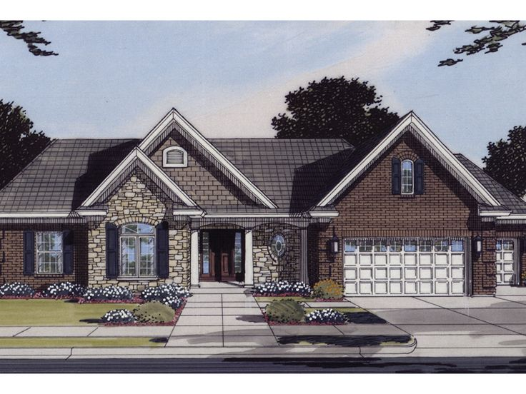 38 best images about house plans on pinterest house for Traditional ranch house