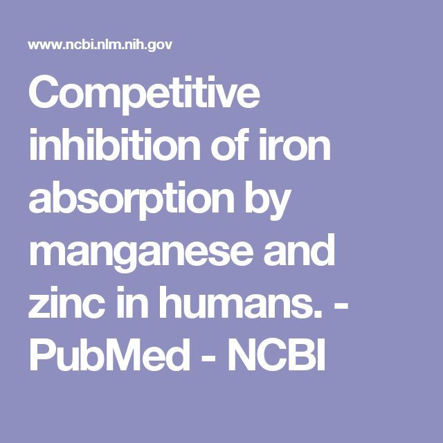 Competitive inhibition of iron absorption by manganese and zinc in humans. - PubMed - NCBI
