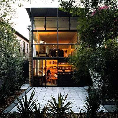 architectural studio of Glenn Murcutt - nice swing-out upper windows