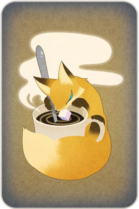 Lilymordecar A Cup Mighty Fine Artist Foxes