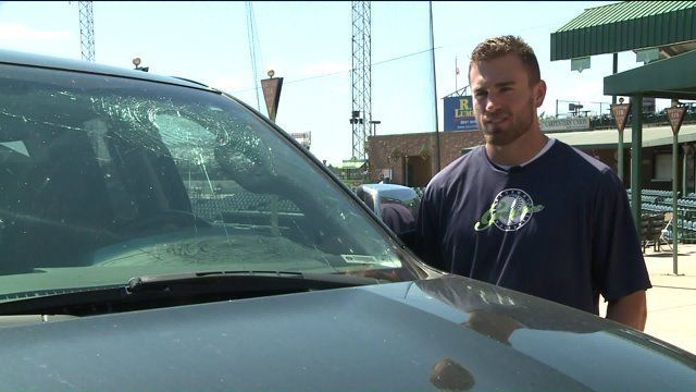 cool Gateway Grizzlies player hits grand slam, smashes his own truck Check more at http://www.matchdayfootball.com/gateway-grizzlies-player-hits-grand-slam-smashes-his-own-truck/