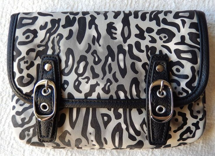 NEW Grace Adele LYNN Ocelot Clutch Purse Bag 22 inch detachable strap HTF #GraceAdele #ClutchLynn